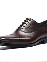 cheap -Men's Formal Shoes Nappa Leather Spring & Summer / Fall & Winter Casual / British Oxfords Non-slipping Black / Brown / Party & Evening