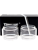 cheap -YUHETEC Fat Glass tube for kaees solomon rta / Solomon 2 RTA 5ml Atomizer 2PCS