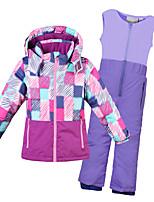 cheap -Phibee Boys' Girls' Ski Jacket with Pants Skiing Camping / Hiking Winter Sports Windproof Warm Winter Sports Polyester Warm Top Warm Pants Clothing Suit Ski Wear