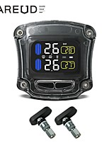 cheap -Motorcycle Tire Pressure Monitoring System LCD Real-time Display Tyre Pressure Auto Tyre Alarm Wireless Waterproof with 2 Sensors for Motorcycle(Internal Sensor)