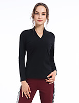 cheap -CONNY Women's Yoga Top Winter Solid Color Black Yoga Running Fitness Top Long Sleeve Sport Activewear Breathable Comfortable Stretchy