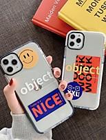 abordables -Coque Pour Apple iPhone 11 / iPhone 11 Pro / iPhone 11 Pro Max Antichoc Coque Mot / Phrase / Transparente TPU