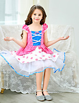 cheap -Bo Peep Dress Masquerade Flower Girl Dress Girls' Movie Cosplay A-Line Slip Cosplay Halloween Pink Dress Halloween Carnival Masquerade Tulle Polyester