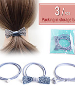 cheap -Women's Dainty Fashion Elegant Plastic Rubber Pearl Hair Ties Hair Jewelry Hair Rings Holiday Birthday Party