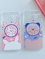 cheap -Case For Apple iPhone 11 / iPhone 11 Pro / iPhone 11 Pro Max Ultra-thin / Pattern Back Cover Transparent / Animal / Panda TPU