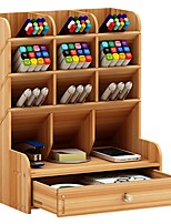 cheap -Wooden Creative Home Organization, 1pc Pen Holders & Cases