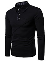 cheap -Men's Daily Polo - Color Block Black