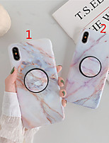 cheap -Case for Apple scene map iPhone 11 11 Pro 11 Pro Max X XS XR XS Max 8 Simple Marble Pattern Fine Matte TPU Material IMD Craft Folding Bracket All Inclusive Mobile Phone Case