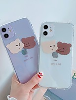 cheap -Case For Apple iPhone 11 / iPhone 11 Pro / iPhone 11 Pro Max Ultra-thin / Transparent / Pattern Back Cover Word / Phrase / Transparent / Cartoon TPU