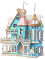 cheap -3D Puzzle Wooden Puzzle Villa Simulation Hand-made Wooden 174 pcs Kid's Adults' All Toy Gift