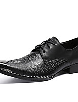 cheap -Men's Formal Shoes Nappa Leather Spring & Summer / Fall & Winter Classic / British Oxfords Non-slipping Black / Party & Evening