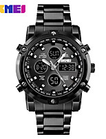 cheap -SKMEI Smartwatch Digital Modern Style Sporty 30 m Water Resistant / Waterproof Calendar / date / day Casual Watch Analog - Digital Outdoor Fashion - Black Silver Silver+Blue