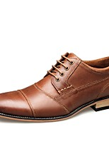 cheap -Men's Comfort Shoes Leather Fall & Winter Oxfords Black / Brown / Coffee