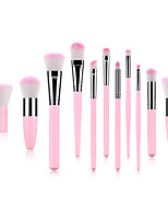 cheap -Miyaup 11 sets makeup brush Kabuki new makeup tool Black/Pink plastic handle pole makeup brush set