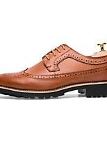 cheap -Men's Formal Shoes PU Fall & Winter Oxfords Black / Brown