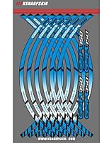 abordables -Individualité commune moto jante décalcomanies roue autocollants réfléchissants rayures pour suzuki gsr750