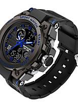 cheap -SANDA Men's Military Watch Digital Sporty Stylish Silicone 30 m Water Resistant / Waterproof Calendar / date / day LCD Analog - Digital Outdoor Fashion - Black Black / Blue black / gold
