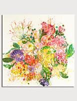 abordables -Peinture à l'huile Hang-peint Peint à la main - Abstrait A fleurs / Botanique Moderne Sans cadre intérieur