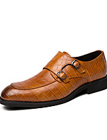 cheap -Men's Summer / Fall Classic / Casual Daily Office & Career Oxfords Faux Leather Non-slipping Wear Proof Black / Yellow / Brown