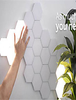 cheap -7 sets of modular touch sensitive lighting hexagonal lamp creative magnetic night lamp wall decoration lampara