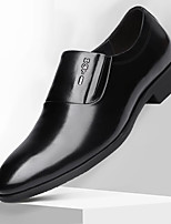 cheap -Men's Formal Shoes Faux Leather Spring & Summer / Fall & Winter Business / Casual Loafers & Slip-Ons Breathable Black / Yellow