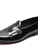 cheap -Men's Comfort Shoes PU Winter Loafers & Slip-Ons Black / Brown