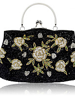 cheap -Women's Chain Polyester Evening Bag Color Block Black / Champagne / Gold
