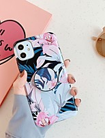 cheap -Case For Apple iPhone 11 / iPhone 11 Pro / iPhone 11 Pro Max Ring Holder / Frosted / Pattern Back Cover Flower TPU