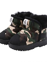 cheap -Boys' Snow Boots Pigskin Boots Little Kids(4-7ys) Green / Red / Blue Winter / Booties / Ankle Boots