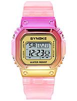 cheap -SYNOKE Digital Watch Digital Sporty Stylish Silicone 30 m Water Resistant / Waterproof Calendar / date / day LCD Digital Outdoor Fashion - Rose Gold Purple Blue