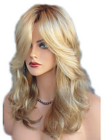 cheap -Synthetic Wig Straight Wavy Kardashian Middle Part Side Part Wig Medium Length Blonde Synthetic Hair 22inch Women's Adjustable Heat Resistant Classic Blonde / Ombre Hair / Natural Hairline