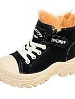 cheap -Girls' Combat Boots PU Boots Little Kids(4-7ys) Black / Brown / Khaki Winter