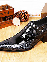 cheap -Men's Novelty Shoes Nappa Leather Spring & Summer / Fall & Winter Casual / British Loafers & Slip-Ons Non-slipping Black / Party & Evening