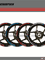 cheap -12 X Thick Edge Outer Rim Sticker Stripe Wheel Decals FIT BMW S1000RR 17''