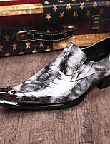 cheap -Men's Novelty Shoes Nappa Leather Spring & Summer / Fall & Winter Casual / British Loafers & Slip-Ons Non-slipping White / Party & Evening