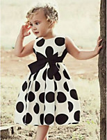 cheap -Kids Girls' Polka Dot Dress White