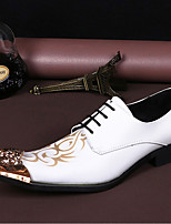 cheap -Men's Novelty Shoes Nappa Leather Spring & Summer / Fall & Winter Casual / British Oxfords Non-slipping White / Party & Evening