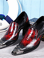 cheap -Men's Novelty Shoes Nappa Leather Spring & Summer / Fall & Winter Classic / British Loafers & Slip-Ons Non-slipping Wine / Party & Evening