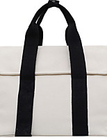 cheap -Women's Zipper Canvas Top Handle Bag Black / White / Green