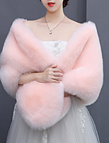 cheap -Sleeveless Faux Fur / Fox Fur Wedding / Party / Evening Women's Wrap With Solid / Fur Capelets
