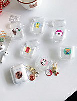 cheap -Case For AirPods Transparent / Lovely Headphone Case Soft