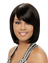 cheap -Synthetic Wig Curly Asymmetrical Wig Short Natural Black Synthetic Hair 11 inch Women's Best Quality Black