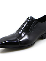 cheap -Men's Formal Shoes Nappa Leather Spring & Summer / Fall & Winter Casual / British Oxfords Non-slipping Black / Party & Evening