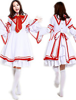 cheap -Sweet Lolita Princess Lolita Dress Female Japanese Cosplay Costumes Red Color Block Bowknot Long Sleeve Knee Length