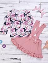 cheap -Baby Girls' Basic Floral Long Sleeve Regular Clothing Set Blushing Pink