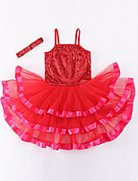 cheap -Kids' Dancewear Dresses Girls' Training / Performance POLY Split Joint Natural Leotard / Onesie