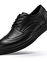 cheap -Men's Formal Shoes Nappa Leather Spring & Summer / Fall & Winter Classic / Casual Oxfords Non-slipping Black