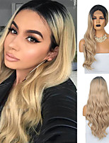 cheap -Synthetic Lace Front Wig Body Wave Middle Part Lace Front Wig Long Ombre Blonde Synthetic Hair 18-26 inch Women's Heat Resistant Synthetic Hot Sale Blonde Ombre / Natural Hairline