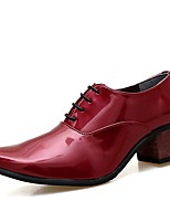 cheap -Men's Formal Shoes Patent Leather Fall & Winter Oxfords Black / White / Red