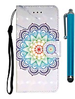 cheap -Case For Samsung Galaxy Galaxy A7(2018) / Galaxy S10 / Galaxy S10 Plus Wallet / Card Holder / with Stand Full Body Cases Flower PU Leather / TPU